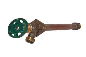 Arrowhead  1/2 in. Sweat  Dia. x 3/4 in. Dia. MIP  9 in. Brass  Antisiphon Wall Hydrant  Frost-Proof