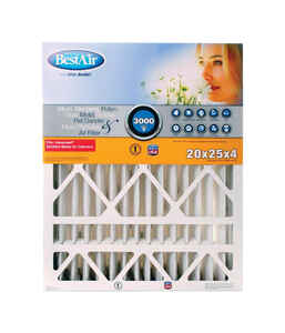 BestAir  25 in. W x 20 in. H x 4 in. D 13 MERV Pleated Air Filter