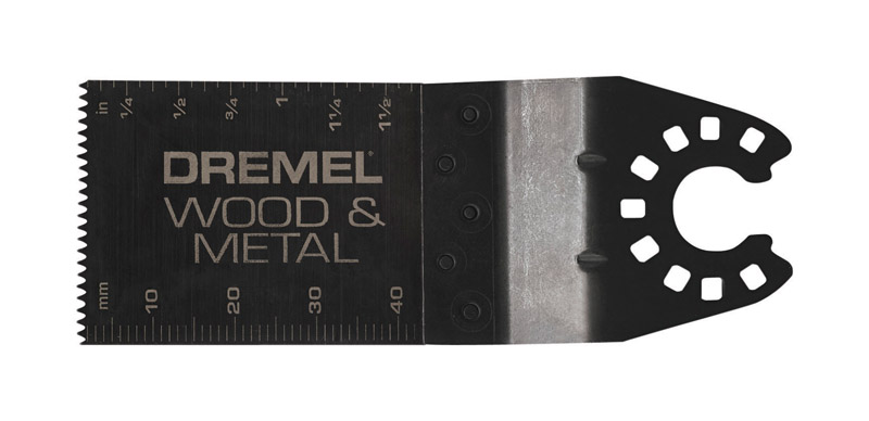 Dremel  Multi-Max  1.7 in   x 1.25 in. L x 1-1/4 in. Dia. Steel  Wood and Metal Flush Cut Blade  1 p