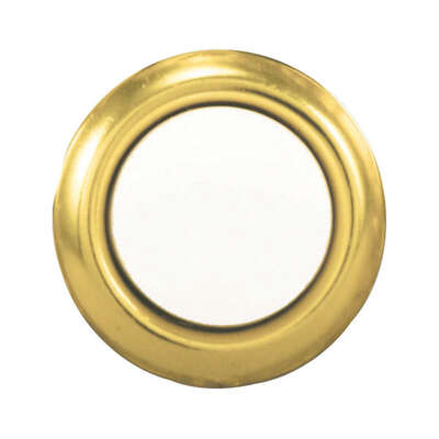 Heath Zenith Polished Brass Gold/White Metal Wired Pushbutton Doorbell