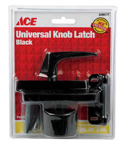 Ace  Black  Steel  Universal Knob Latch  1 pk