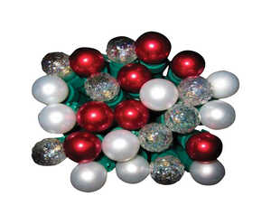 Celebrations  LED  Faceted and Smooth Pearl  Light Set  Assorted  16  50 lights