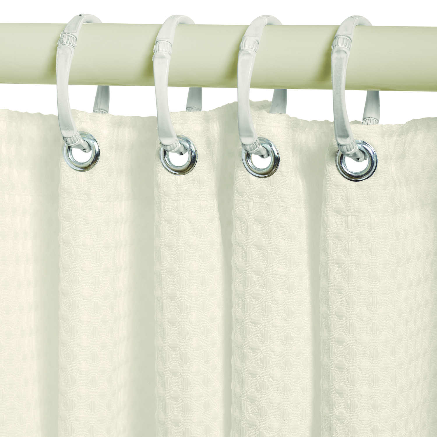Zenna Home  72 in. H x 70 in. W Taupe  Waffle  Shower Curtain Liner  Fabric