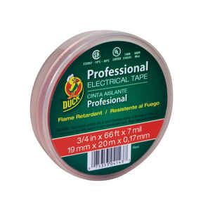 Duck Brand  3/4 in. W x 66 ft. L Red  Vinyl  Electrical Tape