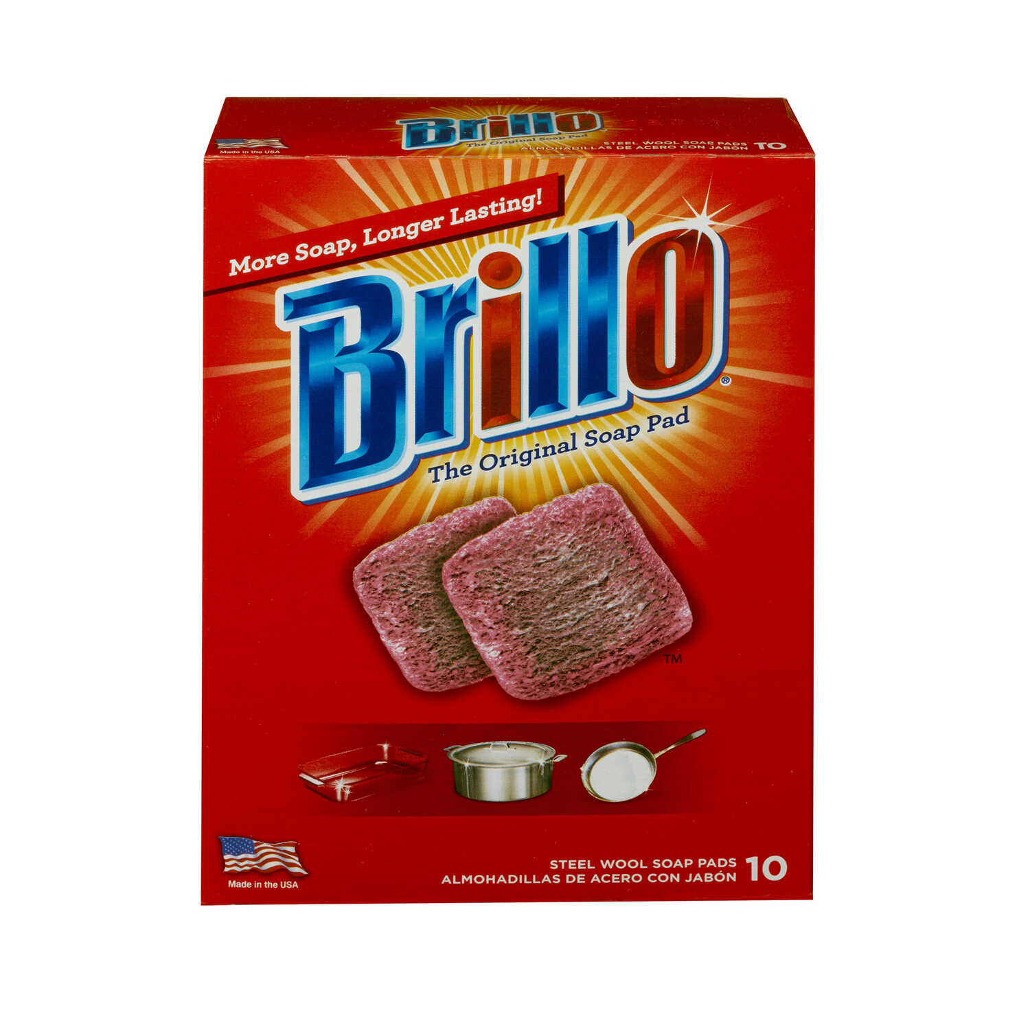 Brillo  Heavy Duty  For Multi-Purpose Steel Wool Pads  10 pk
