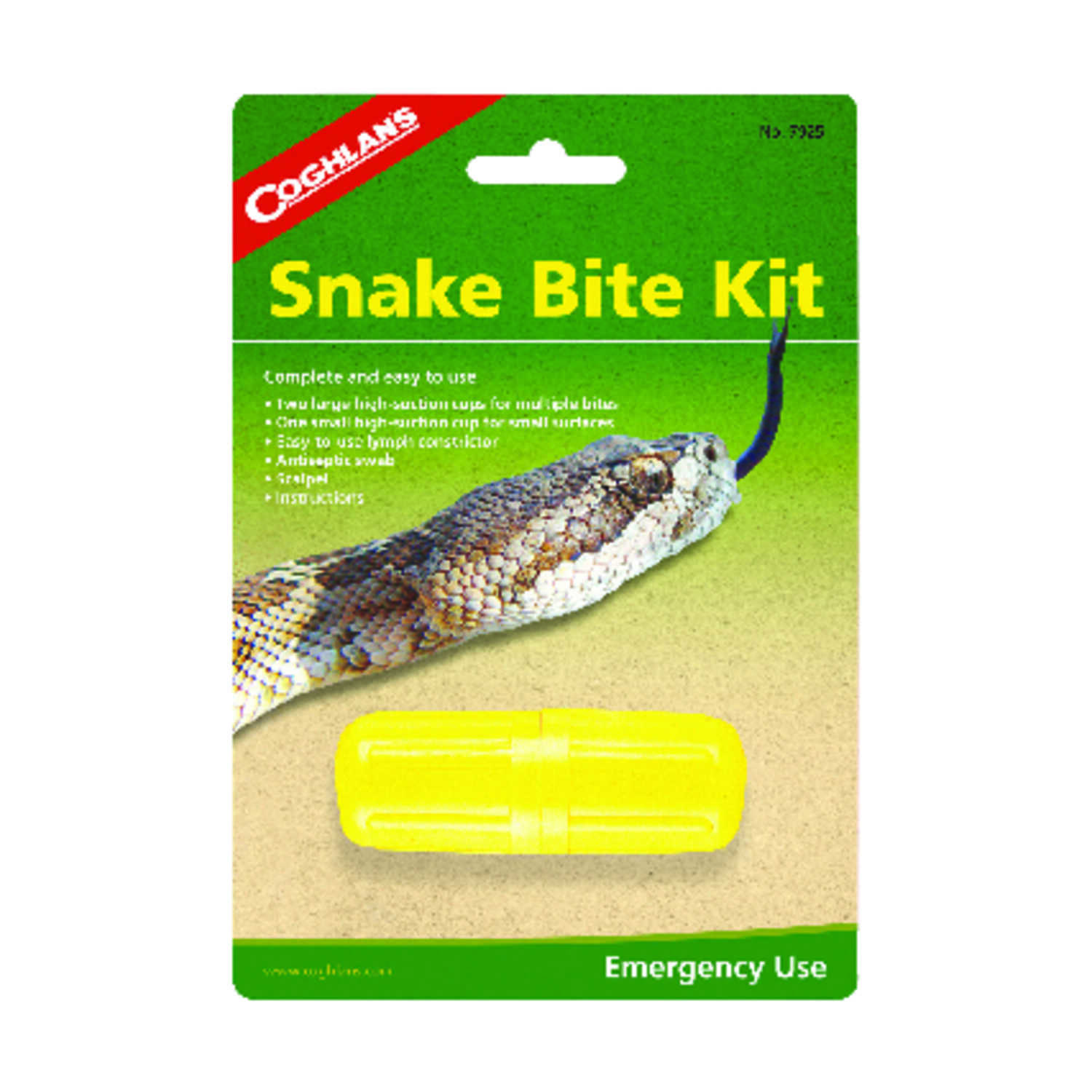 Coghlan's  Yellow  First Aid Snake Bite Kit  7.3 in. H x 1.3 in. W x 1.125 in. L 1 pk