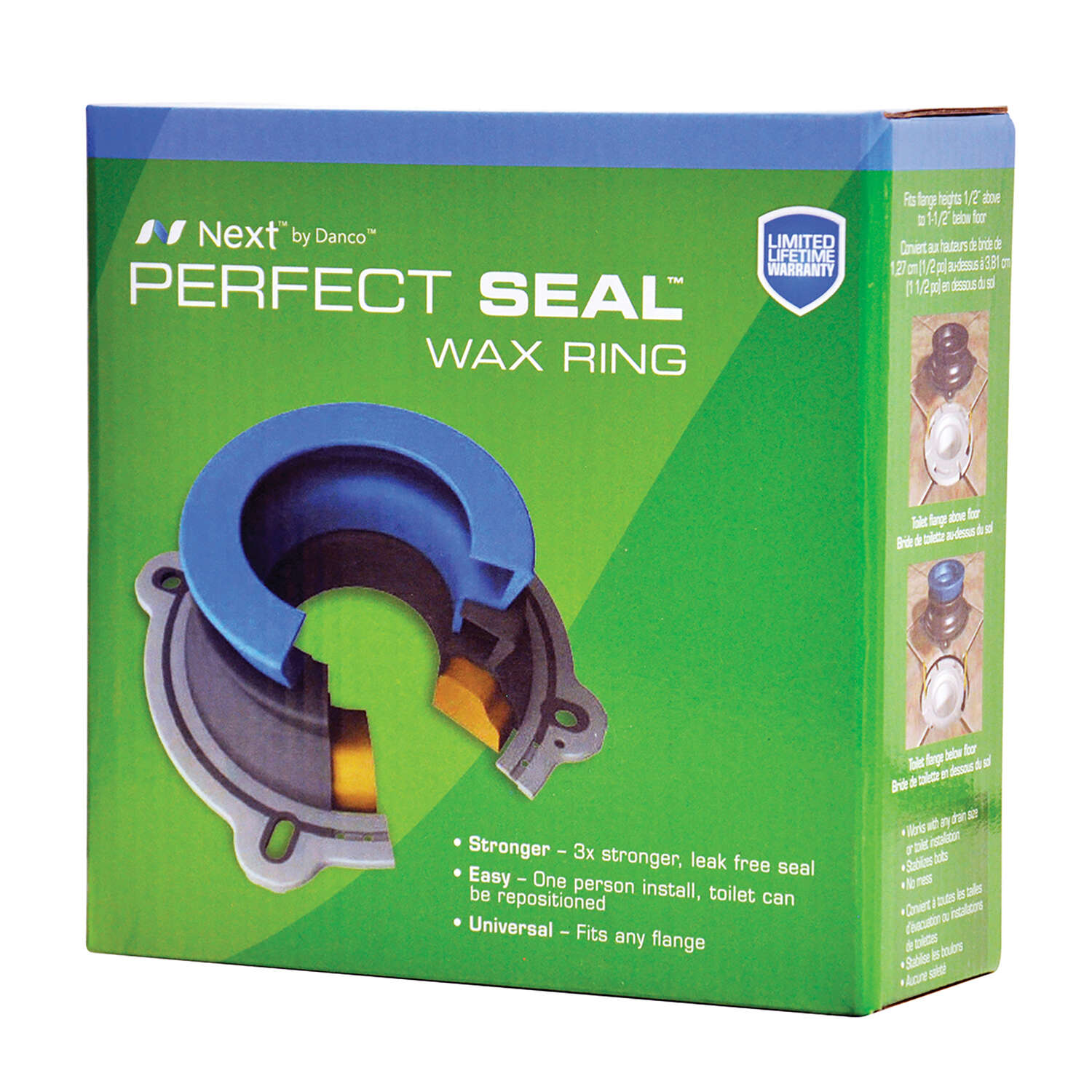 Danco  Toilet Seal  6-3/16 in. H x 6-1/8 in. L Rubber