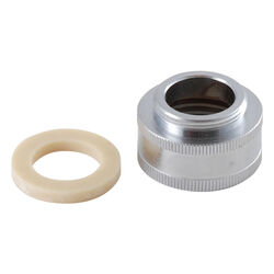 LDR Female Thread 3/4 in.-27M x 55/64 in.-27 Chrome Plated Aerator Adapter