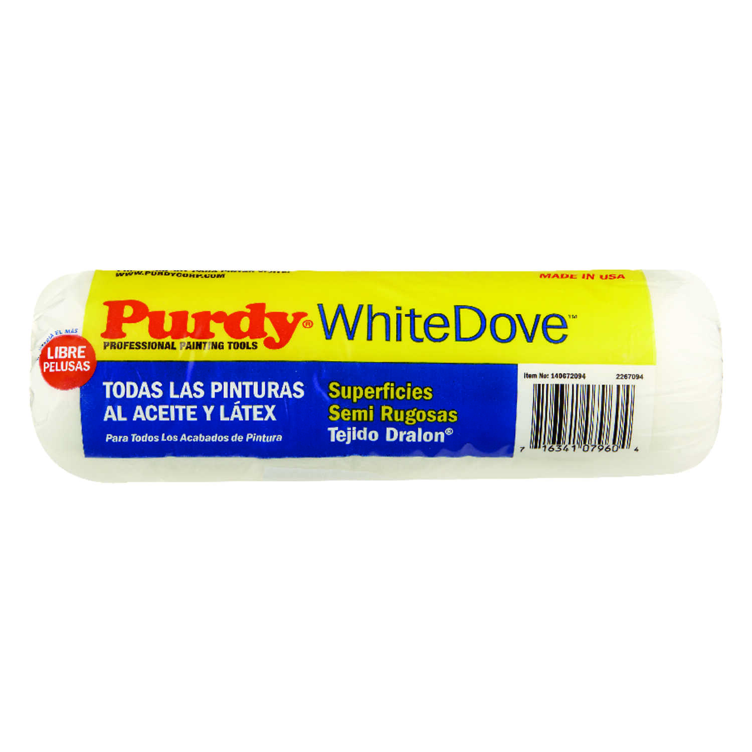 Purdy  White Dove  Dralon  3/4 in.  x 9 in. W Paint Roller Cover  For Semi Rough Surfaces 1 pk