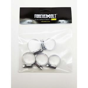 FOREVERBOLT  11/16 in. to 1-1/4 in. SAE 12  Silver  Hose Clamp  Stainless Steel  Band