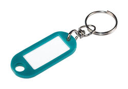 Hillman  Metal/Plastic  Assorted  Labeling/ID  Key Ring