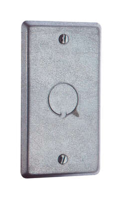 Steel City  Rectangle  Steel  1 gang Outlet Box Cover  For Mounts to Box or Device