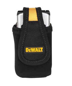 DeWalt  1 pocket Polyester Fabric  Cell Phone Holder  2.9 in. L x 6.8 in. H Black