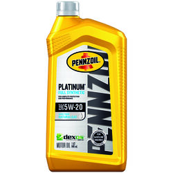 PENNZOIL  Platinum  5W-20  4 Cycle Engine  Synthetic  Motor Oil  1 qt.
