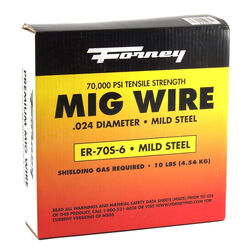 Forney  ER70S-6  0.024 in. Mild Steel  MIG Welding Wire  70000 psi 10 lb.