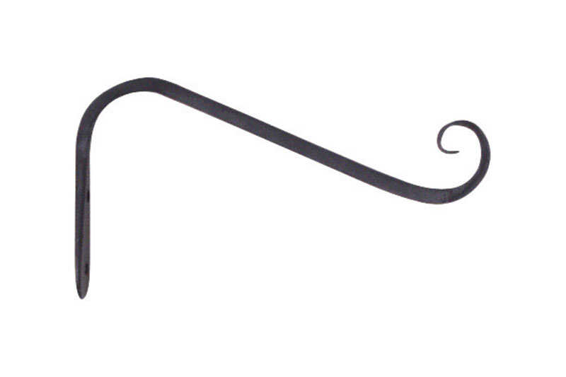 Panacea  Black  Wrought Iron  5 in. H Angled  Plant Hook