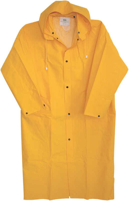 Boss  PVC-Coated Rayon  Rain Jacket  Yellow