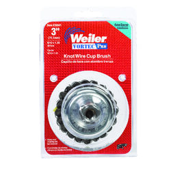 Weiler  Vortec Pro  3 in. Dia. x M10 x 1.25   Knotted  Steel  Cup Brush  14000 rpm 1 pc.