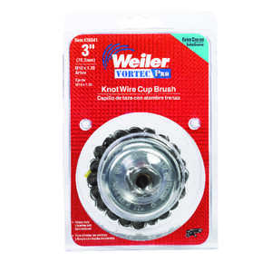 Weiler  0.02 in. Dia. x 1 in. mm  Coarse  Steel  1 pc. Cup Brush