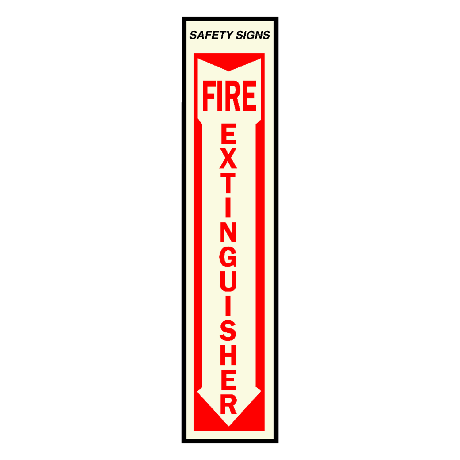 Hy-Ko  English  Fire Extinguisher  18 in. H x 4 in. W Vinyl  Sign