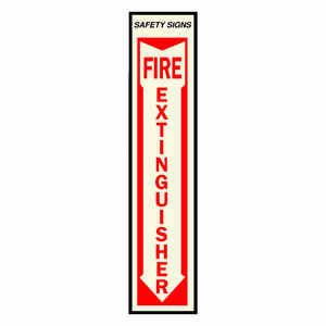 Hy-Ko  English  Fire Extinguisher  Sign  Vinyl  19 in. H x 4 in. W