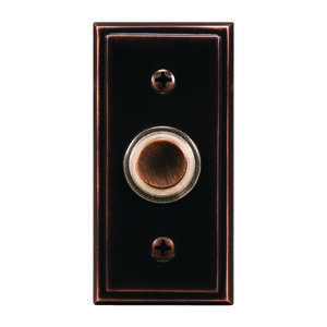 Heath Zenith  Oil Rubbed Bronze  Metal  Wired  Pushbutton Doorbell