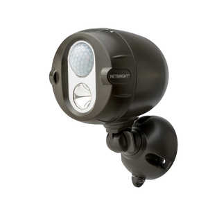 Mr. Beams  Motion-Sensing  Plastic  Spotlight  Black  Battery Powered
