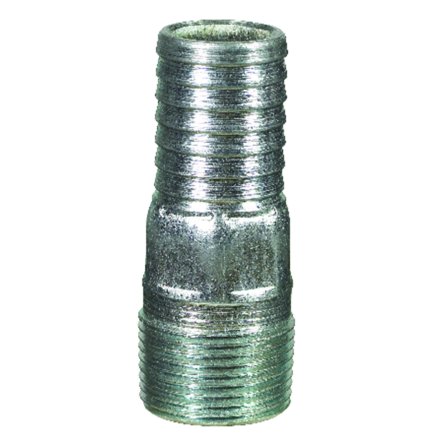 B & K  1-1/2 in. Barb   x 1-1/2 in. Dia. MPT  Galvanized Steel  Adapter