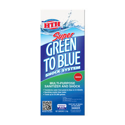 HTH Super Green to Blue Granule Shock System 7.2 lb.