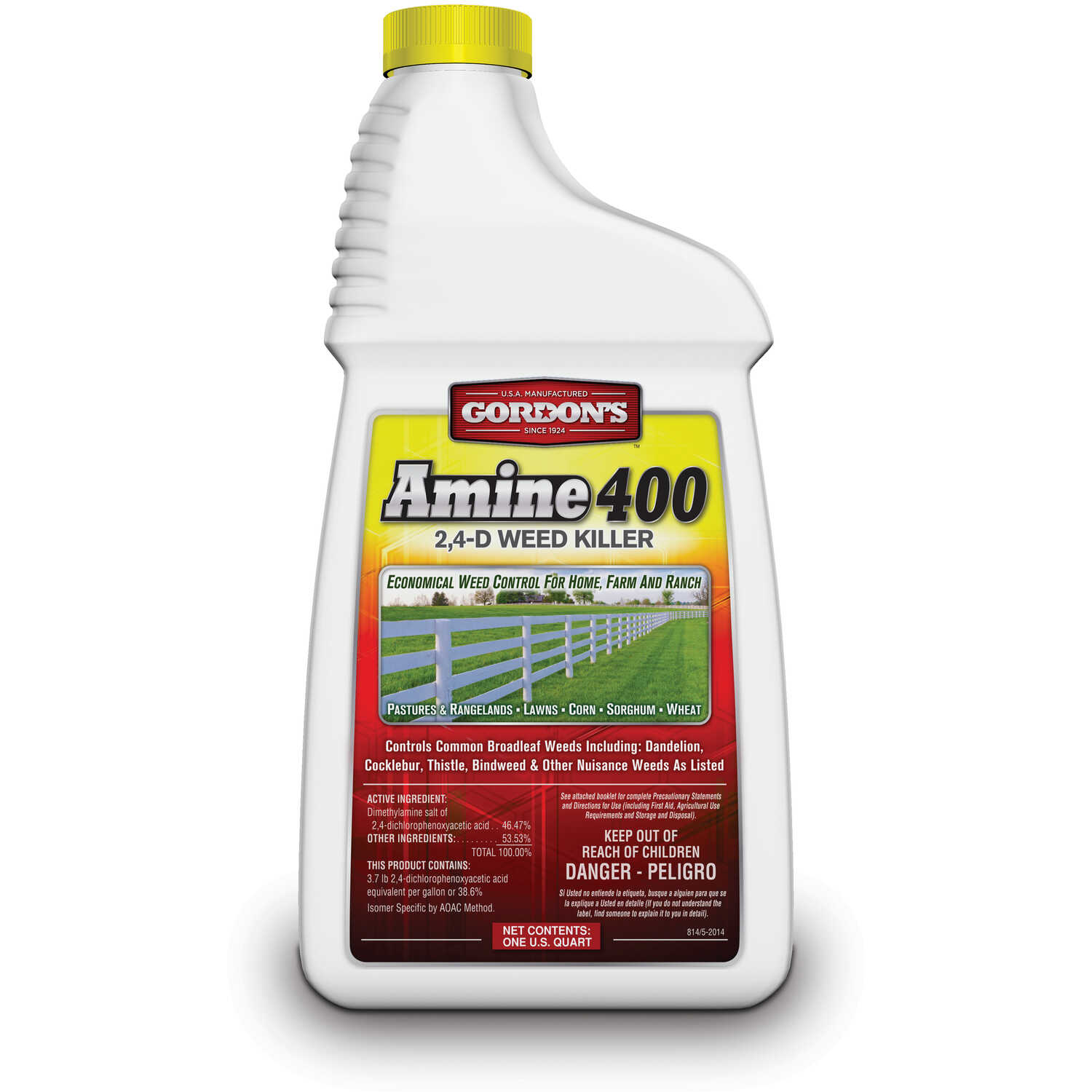 Gordons Amine 400 Concentrate Broadleaf Weed Killer 1 quart qt