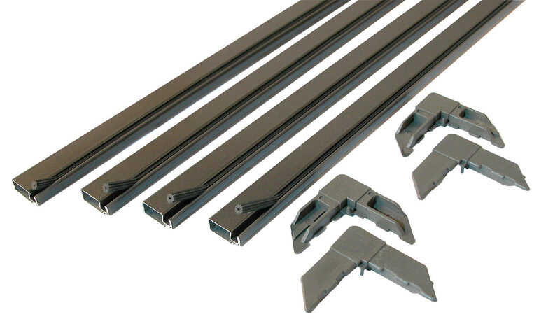 Prime-Line  Bronze  Aluminum  3/4 in. W x 3/4 in. L Screen Frame Kit  1 pk