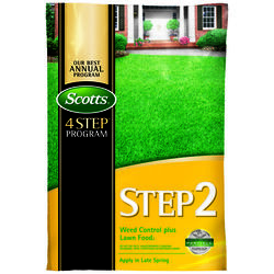 Scotts  Step 2  28-0-3  Weed Control Plus Lawn Food  For All Grass Types 14.29 lb. 5000 sq. ft.