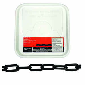 Campbell Chain  8  Black  Plastic  Decorative Chain  0.29 in. Dia. 1.5 in.