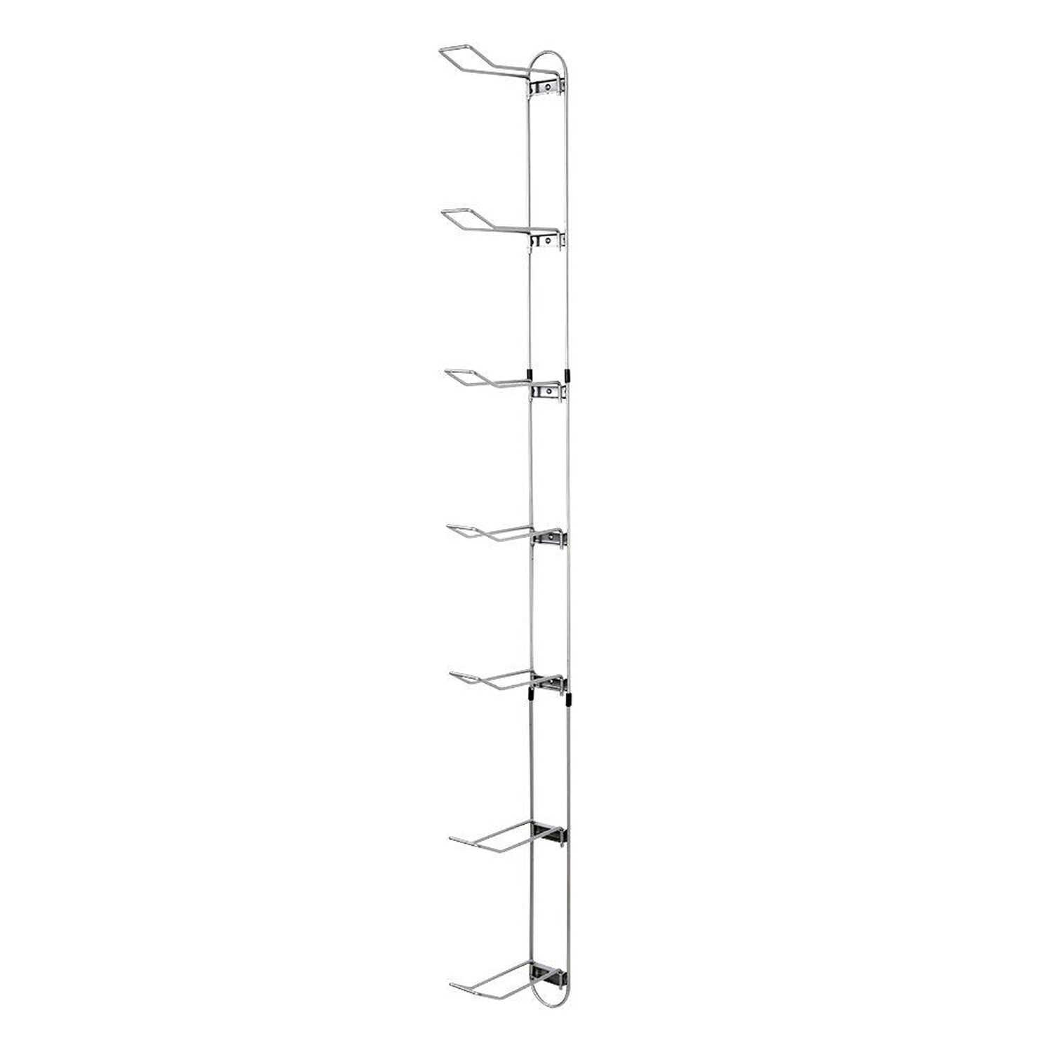 John Sterling  63-3/16 in. H x 3-1/2 in. W x 8-7/8 in. D Steel  Sports Ball Storage Rack  Up to 20 l