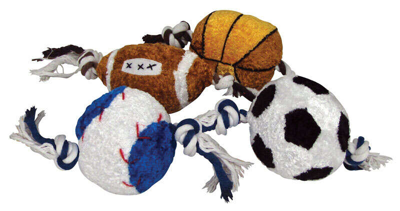 Diggers  Multicolored  Rope Sports Ball  Plush/Rope  Dog Toy  Large