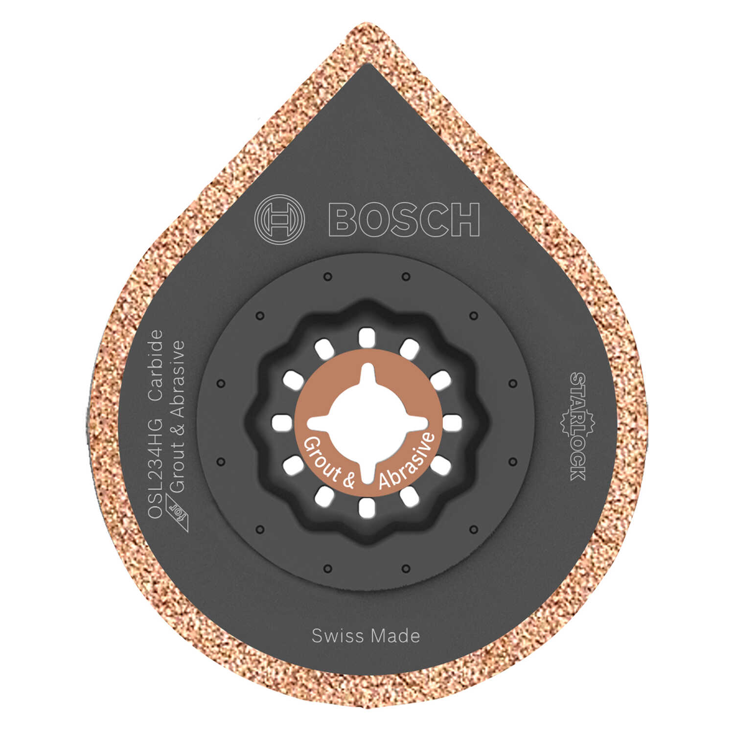 Bosch  Starlock  2-1/2 in.  x 4 in. L Carbide  Grout Removal Blade  1 pk