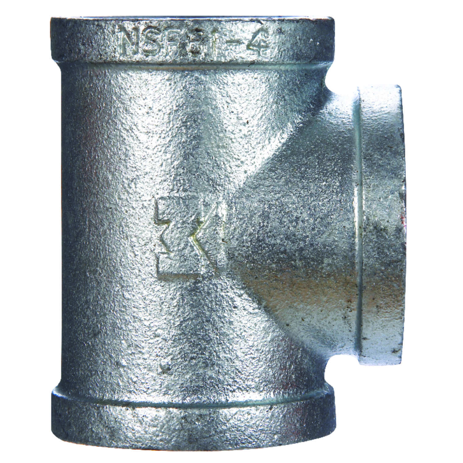 B & K  1/8 in. FPT   x 1/8 in. Dia. FPT  Galvanized  Malleable Iron  Tee