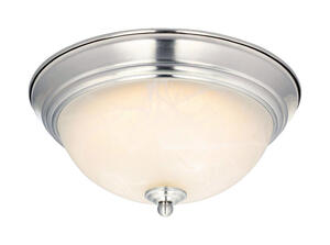 Westinghouse  LED  5.5 in. H x 11 in. W x 11 in. L Brushed Nickel  Ceiling Light