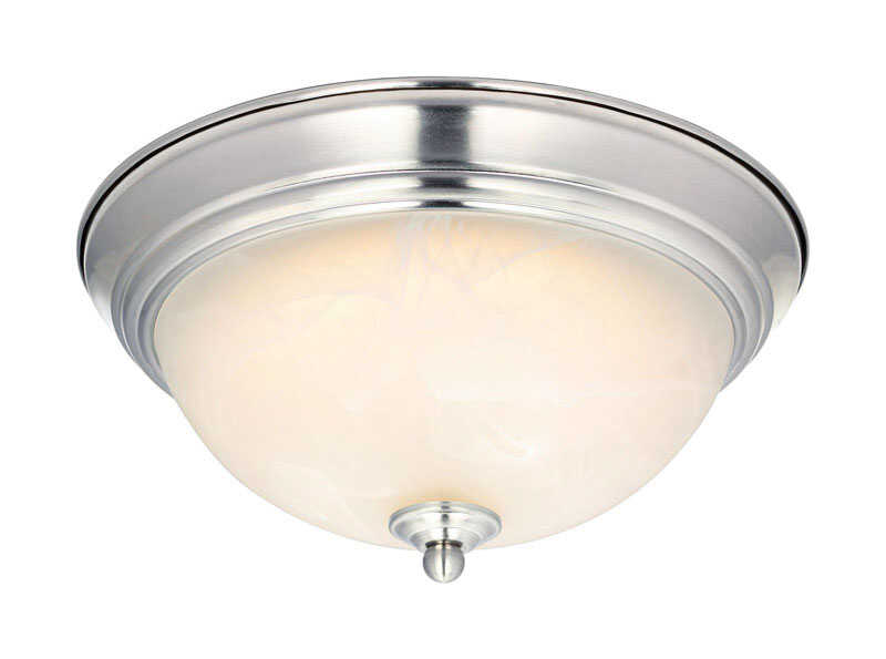 Westinghouse  LED  11 in. W x 5.5 in. H x 11 in. L Brushed Nickel  Ceiling Light