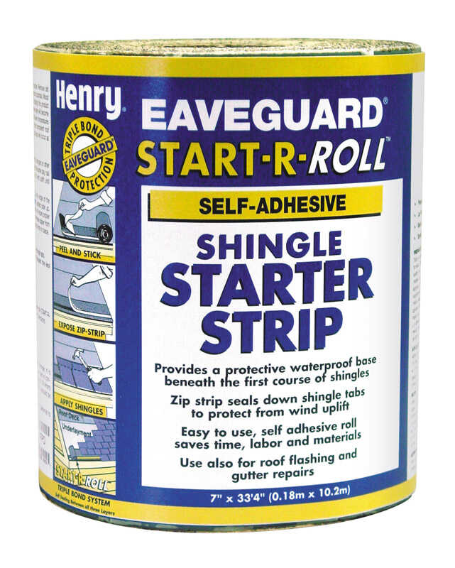 Henry  33.3 ft. L x 7 ft. W Asphalt  Start-A-Roll Shingle Starter Strip  1 sq. ft.