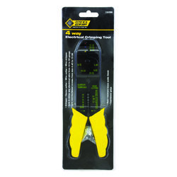 Steel Grip  8 in. 4 Way Electrical Crimping Tool  Yellow  1 pk