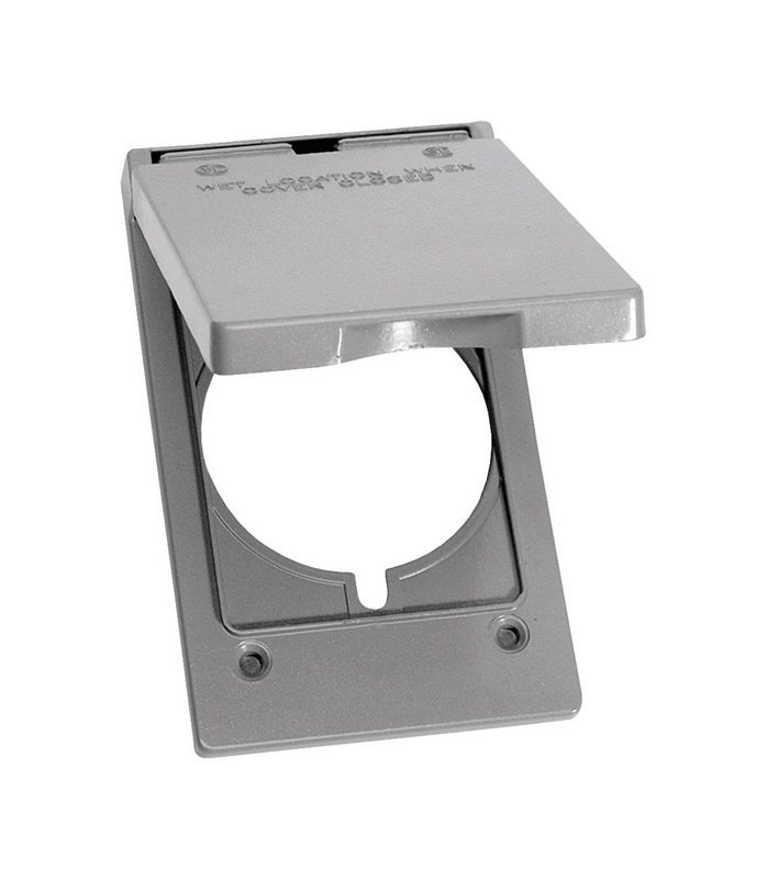 Sigma Rectangle Aluminum 1 gang Electrical Cover For 1 Receptacle ...