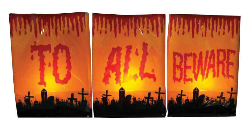 Citi-Talent  Bag Luminaries  Lighted Halloween Decoration  16 in. H x 3 in. W x 33 in. L 3 pk