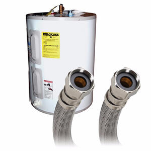 Fluidmaster  3/4 in. FIP   x 3/4 in. Dia. FIP  24 in. Braided Stainless Steel  Water Heater Supply L