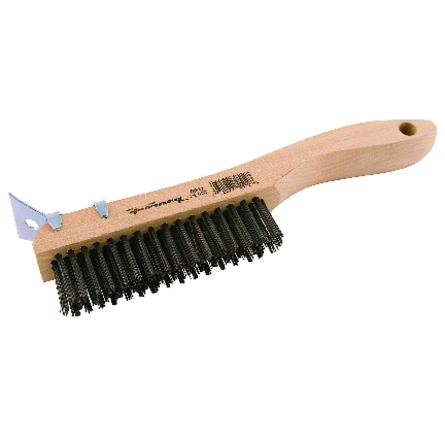 Forney  10-1/4 in. L x 2.75 in. W Scratch Brush  Wood  1 pc.
