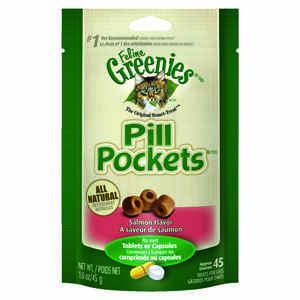 Greenies  Pill Pockets  Salmon  Cat  Treats  1 pk 45 oz.
