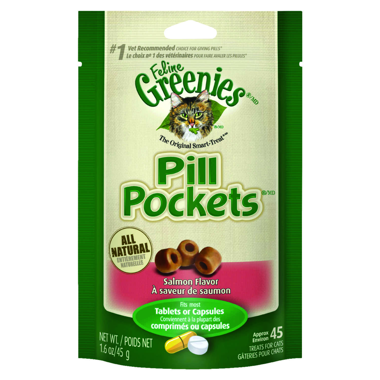 Greenies  Pill Pockets  Salmon  Cat  Treats  1 pk 45 pk
