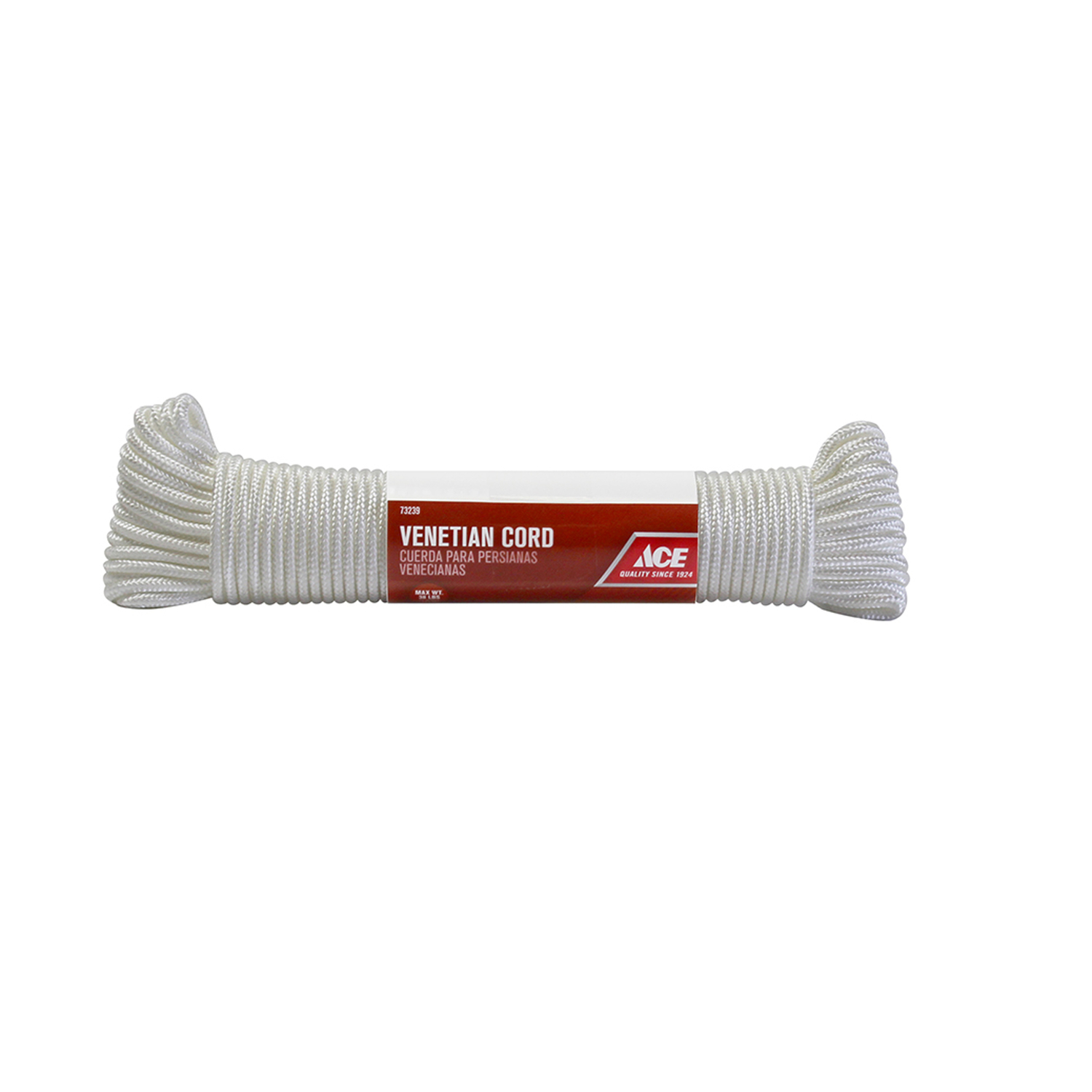 Ace  9/64 in. Dia. x 48 ft. L White  Braided  Nylon  Cord