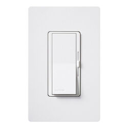 Lutron  Diva  White  125 watt 3-Way  Dimmer Switch  1 pk