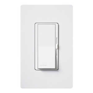 Lutron  Diva  White  125 watts 3-Way  1  Dimmer Switch